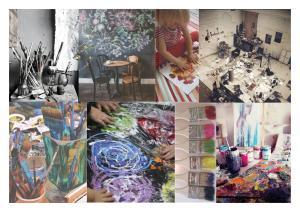 art studio moodboard
